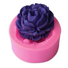 Инструменты для украшения торта 3D силиконовая форма в виде цветка розы помадка подарок украшение Шоколадное Мыло с запахом печенья Полимерная глина формы для выпечки