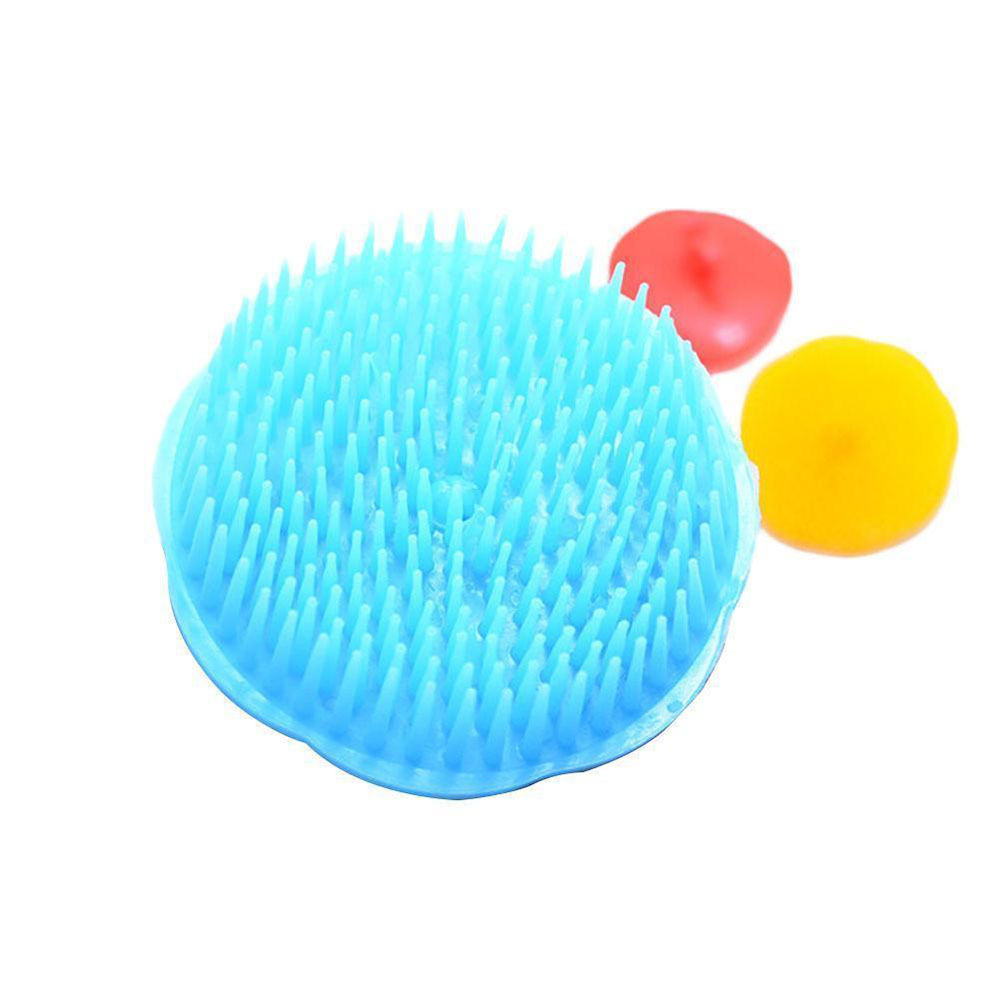 1PC Spa Slimming Massage Brush Silicone Head Body Shampoo Scalp Massage Brush Comb Hair Washing Comb Shower Bath Brush