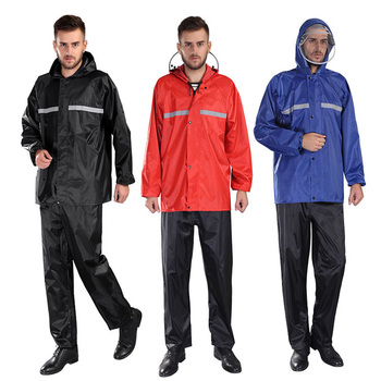 HIPPOSEUS Professional Waterproof Outdoor Bicycle Safety Sets Reflective Breathable Mount Bike Cycling Jersey Sets Raincoat Suit