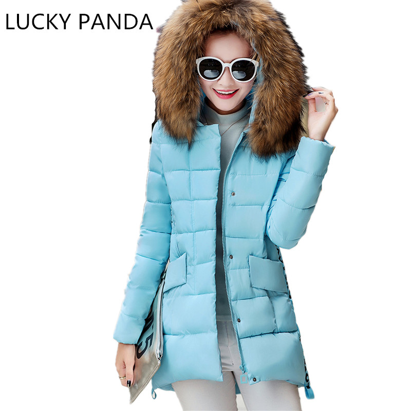 LUCKY PANDA 2016 WOMAN New winter coat down in the long slim fashion student thick jacket coat  LKB183 lucky panda 2016 the new winter coat and female slim in the long and small lattice fragrant cotton lkp243
