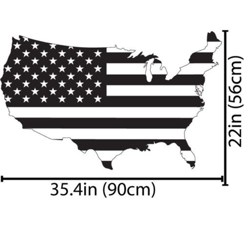 HD Decor Images » Removable Art United States USA Flag Map Wall Decal Art Decor     Removable Art United States USA Flag Map Wall Decal Art Decor Sticker Vinyl  Poster Home Decoration Vinyl Mural Sticker A 160 in Wall Stickers from Home