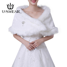 U-SWEAR 2018 Hot Sale White Sweet Warm Women Wedding Jackets Soft Bolero Accessories Bridal Wraps Shawls
