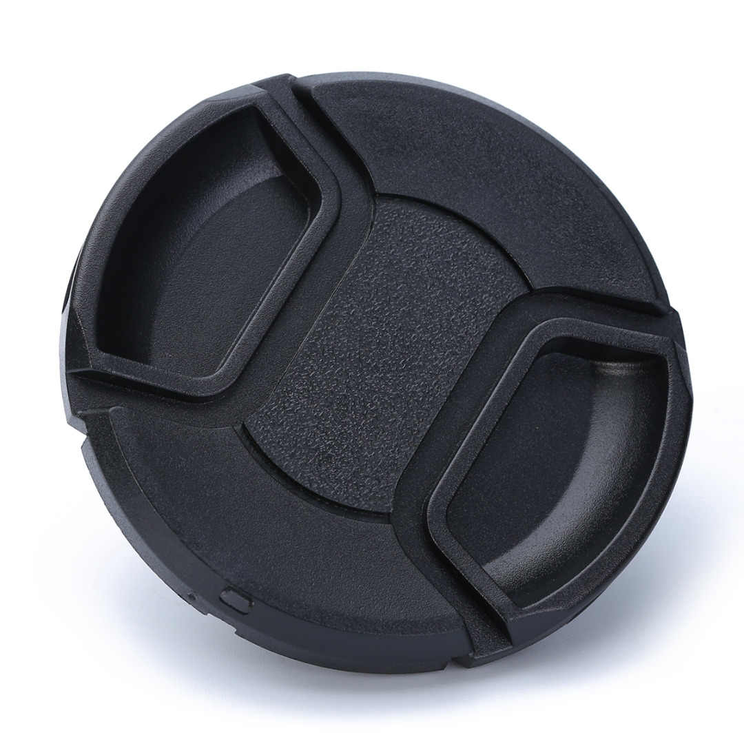 Mayitr 1pc New Universal 62mm Snap On Lens Cap Black Plastic Hood Caps Suitable For