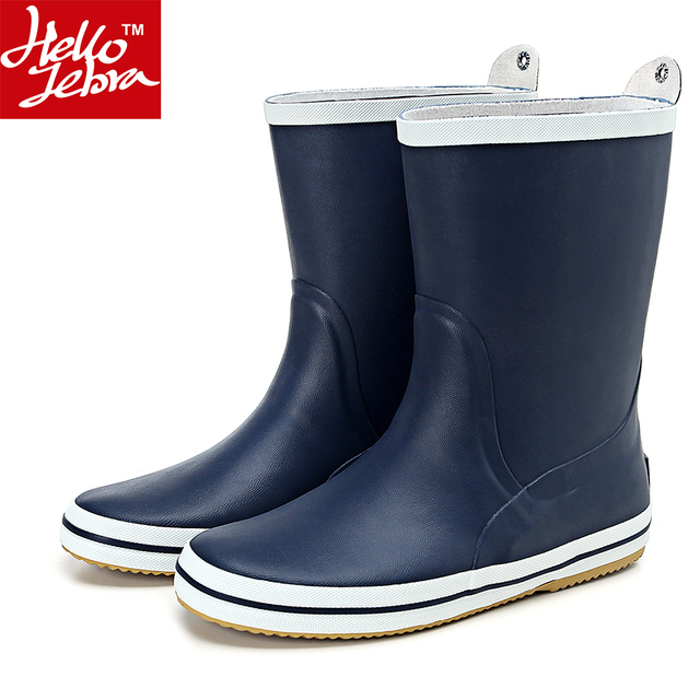 Mens Rain Boots Fashion Rubber Waterproof Rainboots Boy Matt Shoes Rainday Water Shoes Mid-Calf Adult Shoes Skid 2016 New arriva