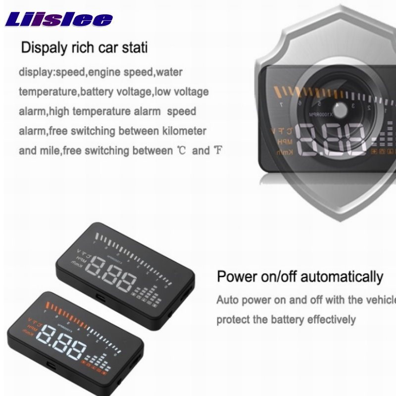 Liislee Car Computer Screen Display Projector Refkecting Windshield For BMW 3 M3 E30 E36 E46 Safe Driving Screen in Head up Display from Automobiles Motorcycles