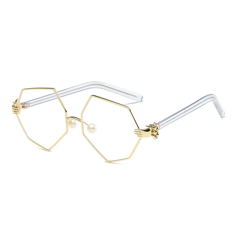 VictoryLip 2017 Unique Fashion Women Sunglasses UV400 Transparent Gradient Brand Designer Sun Glasses Lady Clear Metal Frame