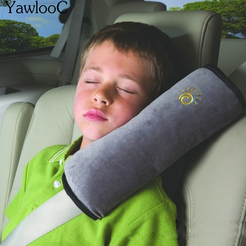Baby Pillow Car Safety Belt & Seat Sleep Positioner Protect Shoulder Pad Adjust Vehicle Seat Cushion for Kids Baby Playpens image