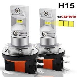 Image 1 - 2pcs H15 LED אוטומטי ערפל מנורת 30W CSP 1919 שבב SMD LED גבוהה כוח לבן 6000K נורות עבור רכב אוטומטי חיצוני ערפל אור פנס מנורה