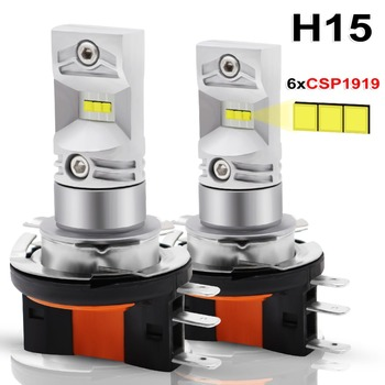 цена на 2pcs H15 LED Auto Fog Lamp 30W CSP 1919 chip SMD LED high power White 6000K Bulbs For Car Auto External Fog Light Headlight Lamp