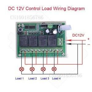 Image 2 - 4 채널 dc 12 v 4ch rf 무선 원격 제어 스위치 시스템 315 mhz 433 mhz 송신기 및 수신기