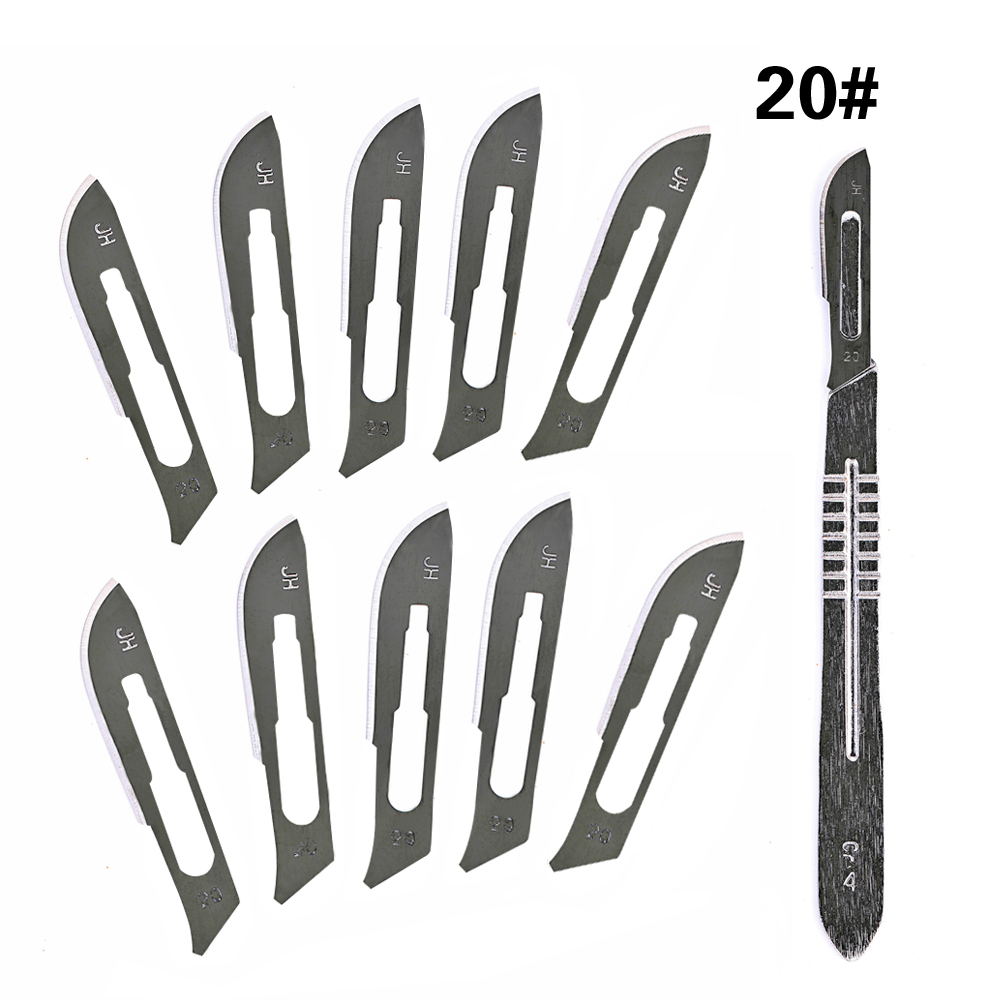 4# Stainless Steel Scalpel Handle Fit With 20# 21# 22# 23# Surgical Blade Knife Engraving DIY Hand Tools