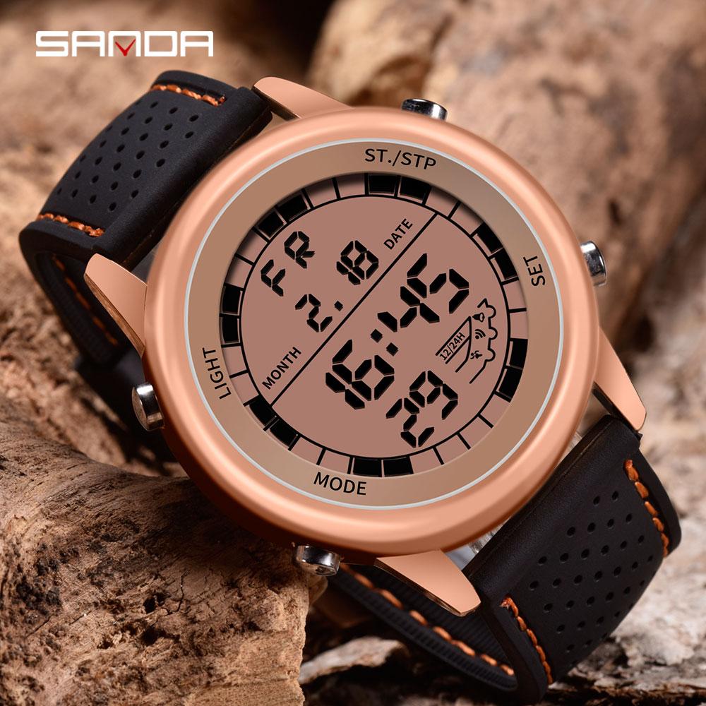 Countdown Watch Sports-Clock Shock Digital SANDA Relogio Chronograph Masculino Classic