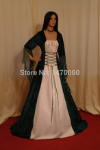 Stunning  Dress Long Medieval Gown Satin Ribbon renaissance period costumes Plus Size Dress  Custom Made All Size