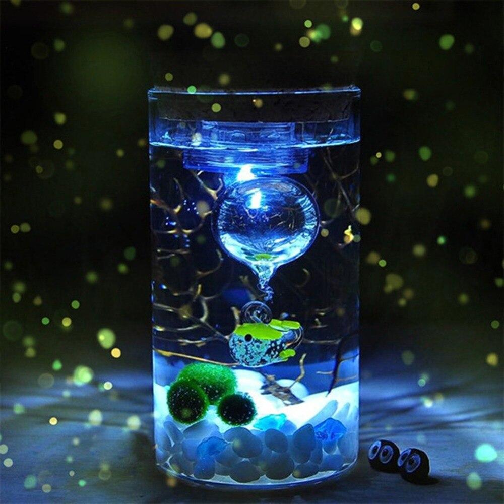 12 CM Glass Bottle Jar Hydroponic Terrarium Container Light LED Cork Stopper Ecological Bottle Night Lights #264311