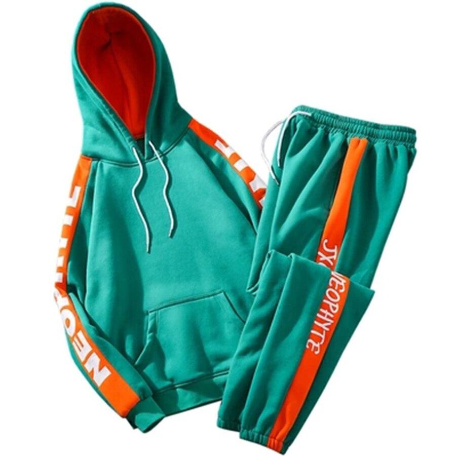 Sweat à capuche 2019 nouveau décontracté hommes Hoodies ensemble Sportswear survêtement hommes sport costumes survêtement Jogging Homme vêtements à capuche hommes 50na89