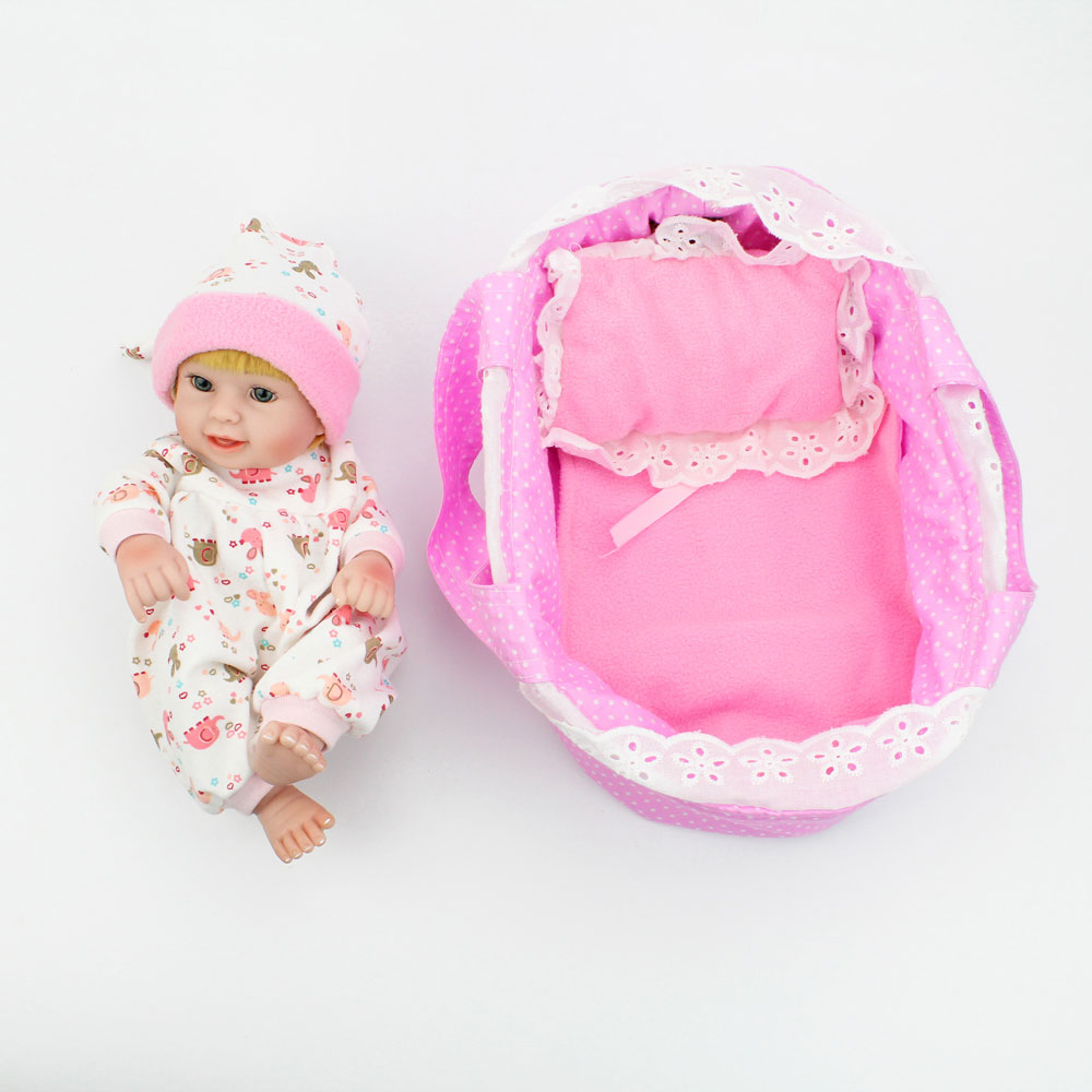 10 Inch 25cm Full Silicone Reborn Baby Dolls Lifelike Handmade Mini Bebe Reborn Babies Girls Kids Bathe Playmate Small Doll Toys
