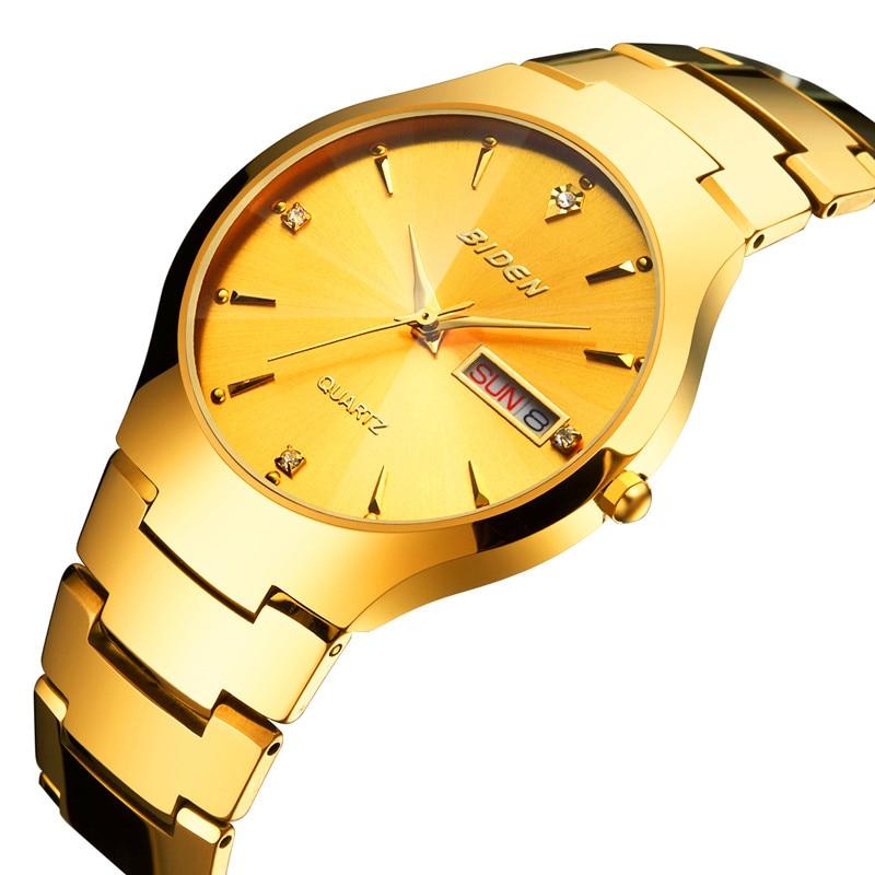 BlDEN Watches men Business Dress Tungsten Steel Watch male quartz wristwatches waterproof Casual Sport Clock relogio masculino