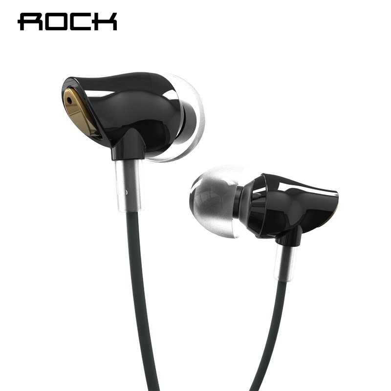 Original Rock Luxury Zircon Stereo Earphones With Microphone In Ear Wire Control With Mic 3.5mm For Xiaomi Mi 5S For Meizu ep51