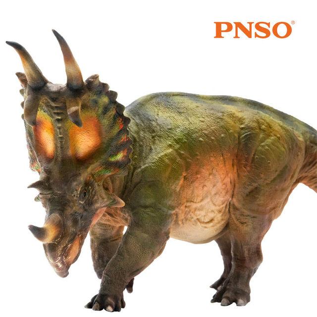 PNSO Spinops Centrosaurus Styracosaurus Dinosaur Figure Toy Collector Kids Gift
