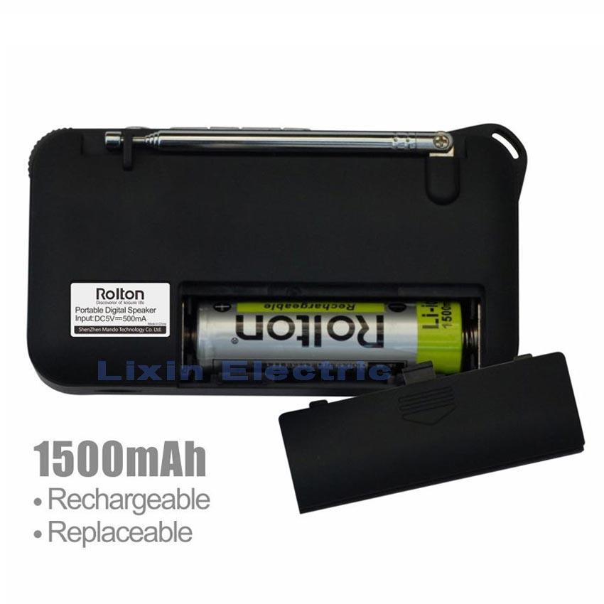 Rolton W505 MP3 Pleyer Mini Portativ Səs Dinamiklər FM Radio LCD - Portativ audio və video - Fotoqrafiya 6