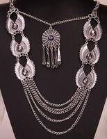 Engelenvleugels bib ketting vrouwen biker bling sieraden geschenken verstelbare antiek zilver kleur YJ06 groothandel dropship