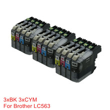 Ink Cartridges LC563 563 Ink For Printer Replacement For Brother MFC-J2310 MFC-J2510 MFC-J3520 MFC-J3720 Inkjet