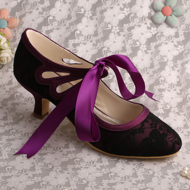 2015 New Multi-Color Close Toe Women Bridal Shoes Ribbon Tie Mid Heel  Wedding Shoes ba392d47ae9a