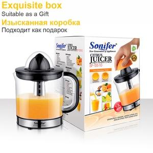 Image 4 - 스테인레스 스틸 오렌지 레몬 전기 Juicers 30W 과일 압착기 신선한 주스 가정용 Sonifer