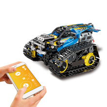Новинка 2,4 ГГц RC машинка из конструктора DIY строительный комплект Автомобильная игрушка rc Танк RC трюк автомобиль приложение управление гравитационный датчик