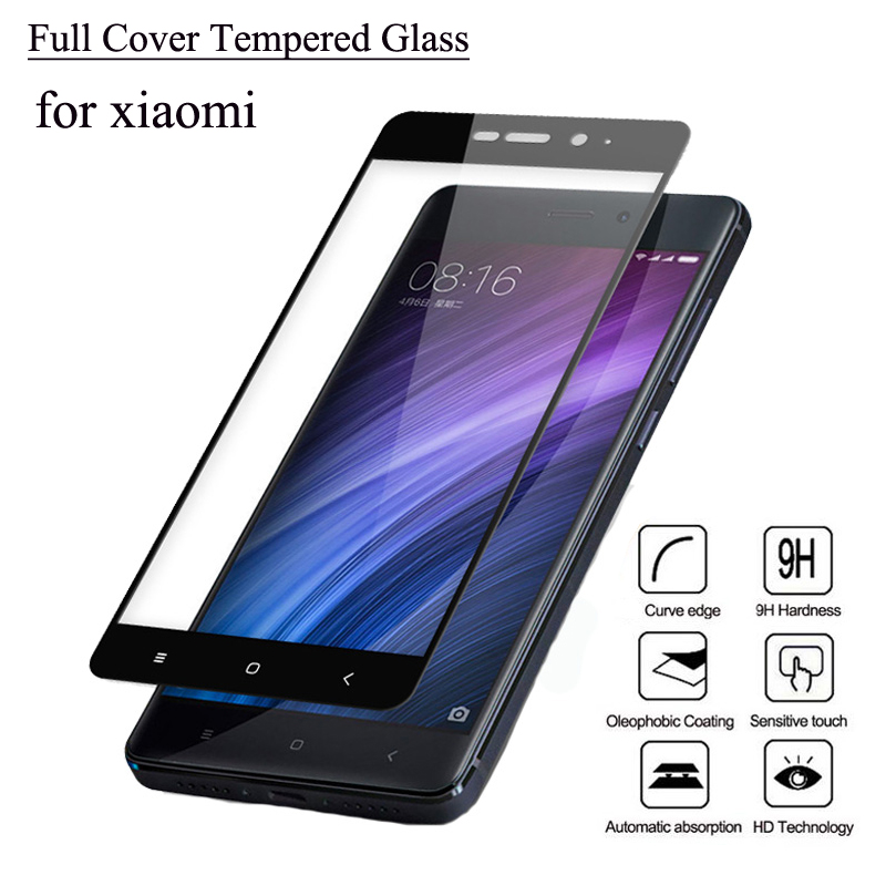 Protector de pantalla de cubierta completa de vidrio templado para Xiaomi Redmi Note 4 versión global 4X 4A 3 Pro 3S 4 Prime mi4 mi5 mi5S mi5C mi6