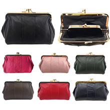 BELLO TUTTI Genuine Leather Small Wallet Lady Original Coin Purse Metal Hasp Money Coin Purse Women Bag