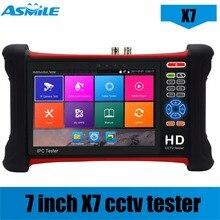 DHL free X7 H 265 4K 8MP Camera tester 6 in 1 TVI CVI AHD SDI