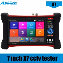 DHL-free X7 H.265 4K 8MP Camera tester 6 in 1 TVI CVI AHD SDI CVBS IP Camera Tester CCTV tester Monitor with TDR,Cable tracer