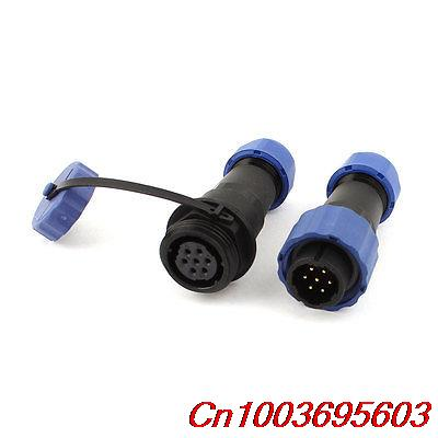 Pair Waterproof Aviation Cable Connector Plug + Socket SD16-7 7 Pin IP68 1set wp20 2pin waterproof chassis panel mount aviation plug cable connector 30a 500v