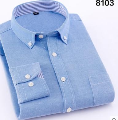 Боко 2018 Мужская рубашка с длинным рукавом Оксфорд спиннинг. В весенний и осенний период и Новинка для отдыха однотонная кофта