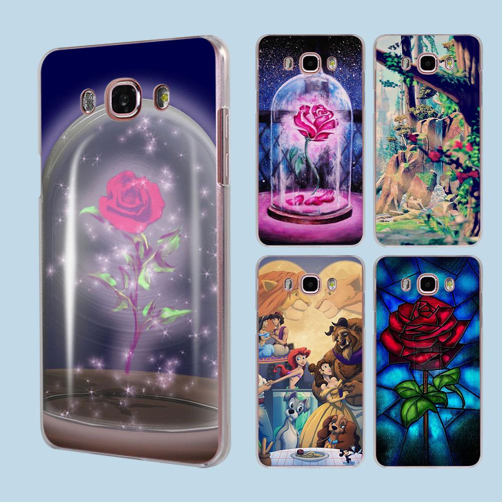 Beauty And The Beast design transparent clear hard case cover for Samsung Galaxy J5 J7 J510 J710 J2 J3 J1 2016