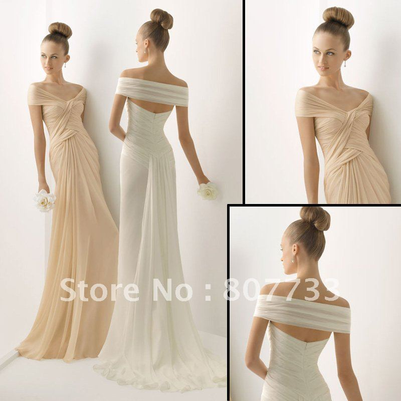 New J0080 Off Shoulder White Chiffon Informal Wedding Dress In Dresses From Weddings Events On Aliexpress Alibaba Group