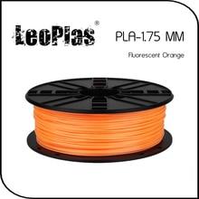Worldwide Fast Delivery Direct Manufacturer 3D Printer Material 1 kg 2.2lb 1.75mm Fluorescent Orange PLA Filament