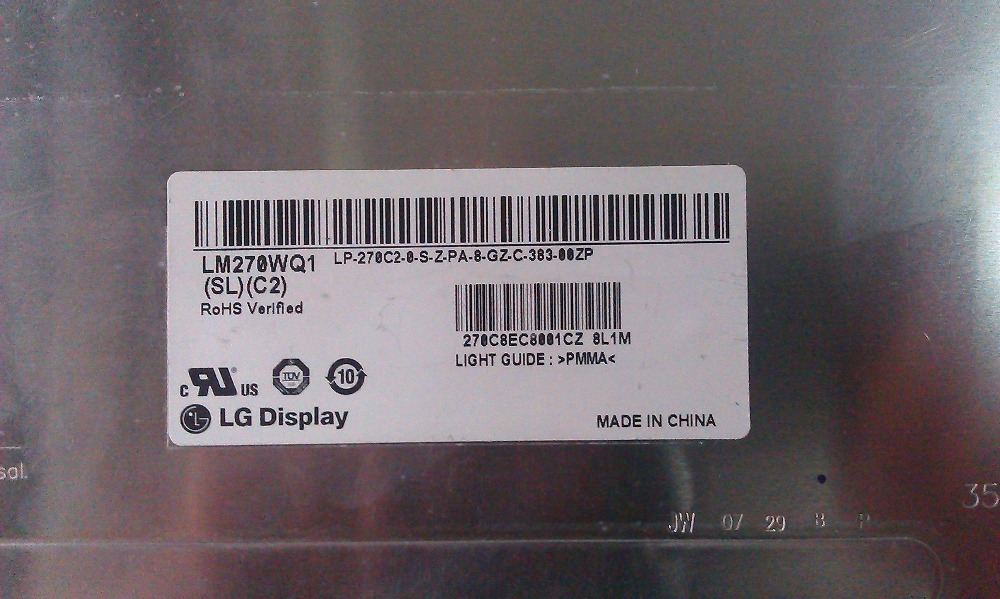 LM270WQ1 SDE3 LM270WQ1 (SD) (E3)  27.0 inch lcd display used for apple iMac A1312 AIO original grade A one year warrantyLM270WQ1 SDE3 LM270WQ1 (SD) (E3)  27.0 inch lcd display used for apple iMac A1312 AIO original grade A one year warranty