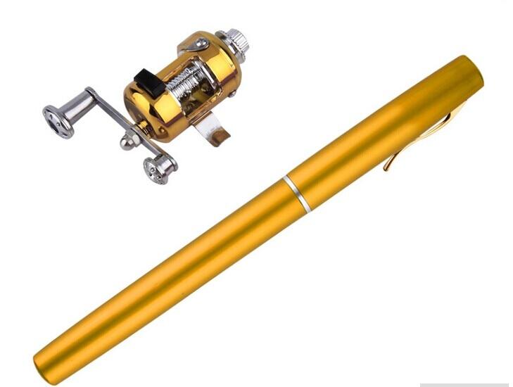 Labs darjums Jaunais Zelta Mini kabatas alumīnija sakausējuma zivju - Makšķerēšana