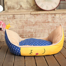 2016 Cute Pet Cat Dog Bed Washable Warm Puppy Small Medium Big Pet Dog Cat Moon Style Bed Mat House Covers XL Plush cushion