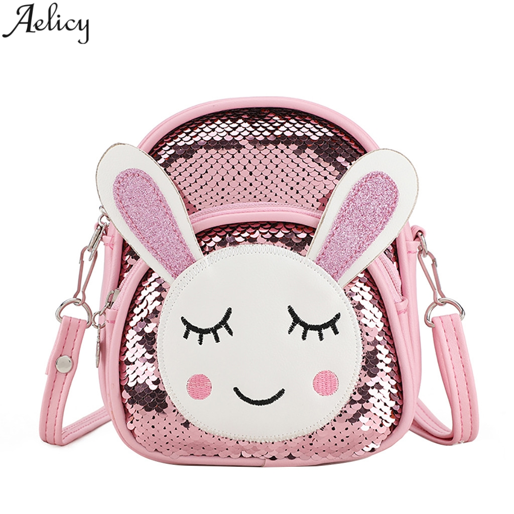 Aelicy Small Backpack Women Sequin Pu Leather Shoulder Bag Rabbit Pattern Designed Student School Bag Shoulder Bag MochilaAelicy Small Backpack Women Sequin Pu Leather Shoulder Bag Rabbit Pattern Designed Student School Bag Shoulder Bag Mochila