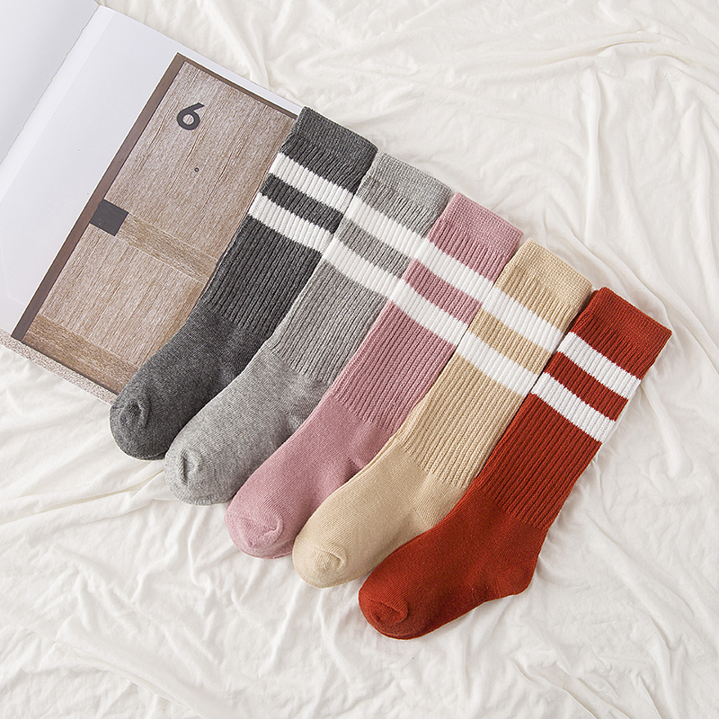 1-9y 2016 Autumn baby cotton socks kids boy and girl knee high Cotton Socks children leg warmer Stripe C806