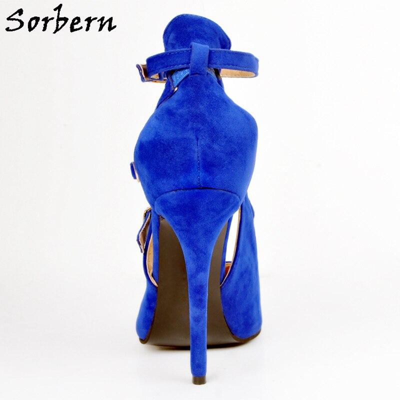 Sorbern Royal Blue Heels Shoes 42 Size