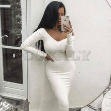 CUERLY Garden Ribbed summer White Dress Party Bodycon Women Elegant Long Midi Skinny Sexy Dresses Club Wear