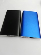 free shipping full metal 5000mah ultra slim usb mobile power bank