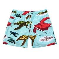 Hot Summer men beach Color turtle print men swimming shorts for men beachwear swim suits men surf beachwear sportswear for men