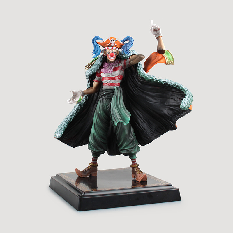 NEW hot 24cm One piece Buggy action figure toys collection christmas toy doll with box S134 new hot 14cm one piece big mom charlotte pudding action figure toys christmas gift toy doll with box