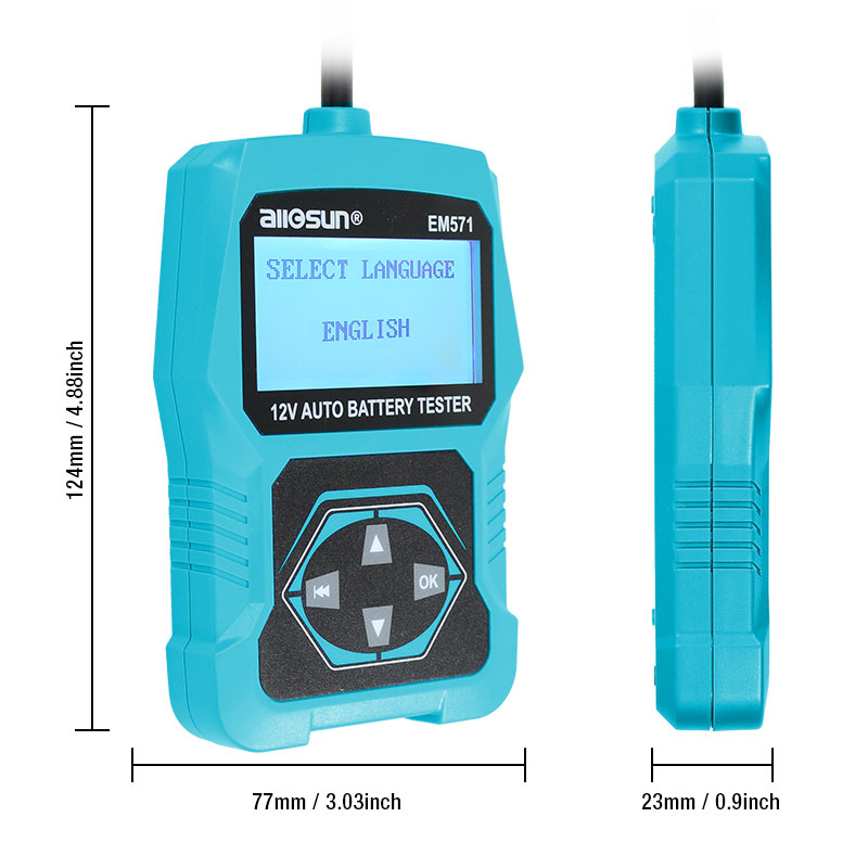 Tools : 12V Automotive Vehicle Car Battery Tester 3 in 1 Multifunction Check Meter Digital Analyzer Diagnostic ALL-SUN EM571
