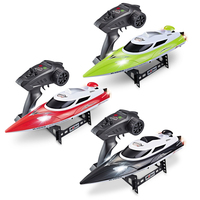 35km/h 2.4G 200m RC Distance RC Boat Fast Ship With Cooling Water System Boat Night Light Double Layer Waterproof Boat Speedboat